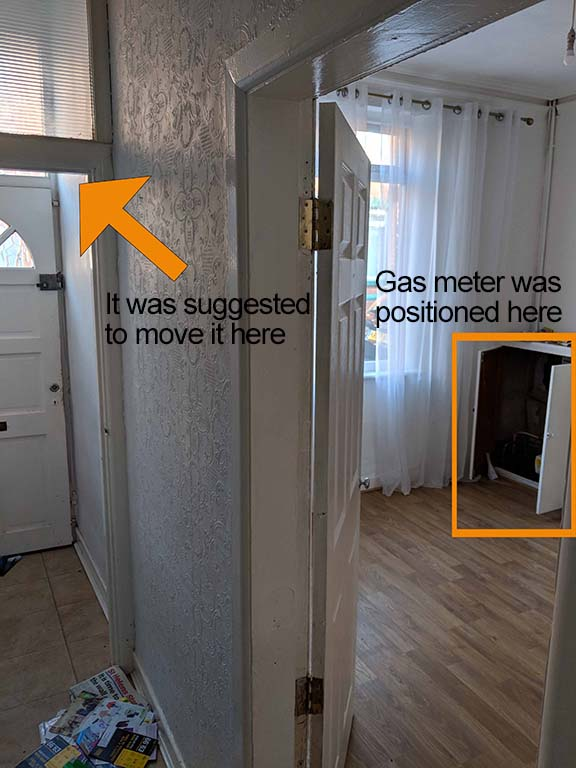 location of gas meter