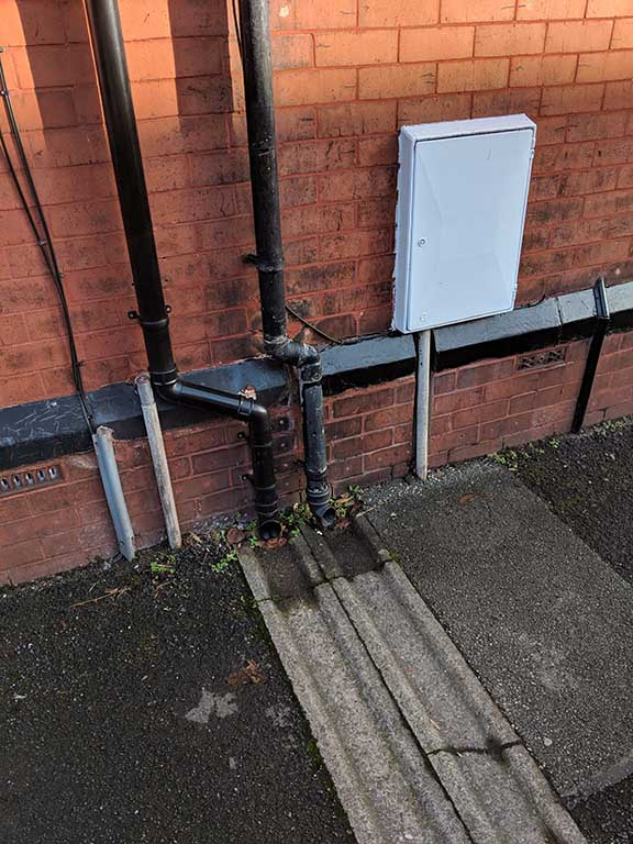 new gas meter box outside