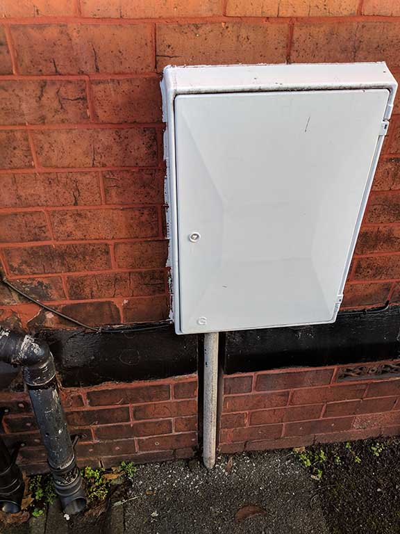 gas meter box with key