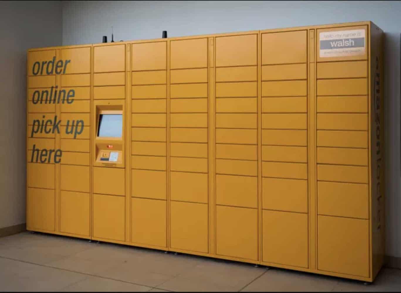 amazon locker located in a store