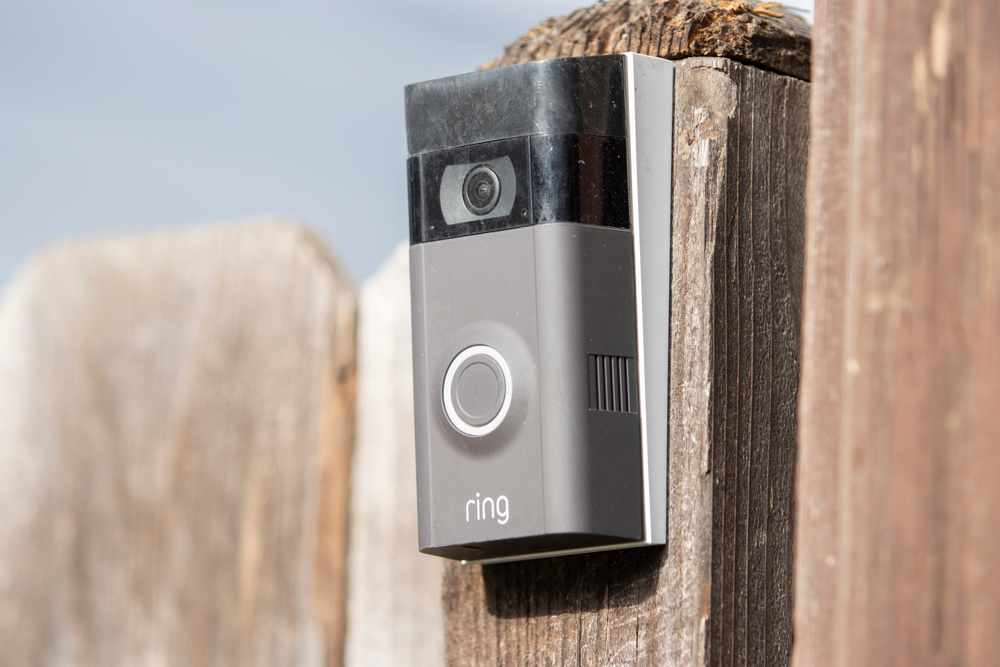 ring doorbell on a gate