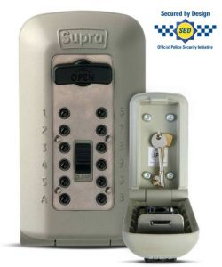 supra lockbox showing police approved symbol