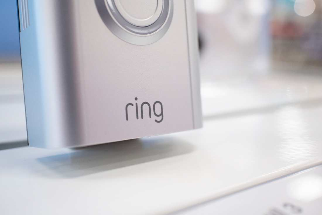 lower half of the ring doorbell