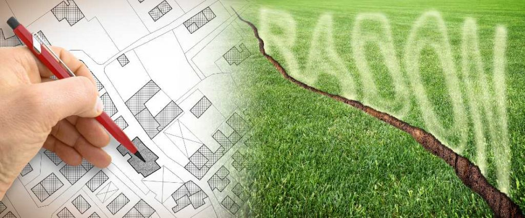 dangers of radon from ground cracks