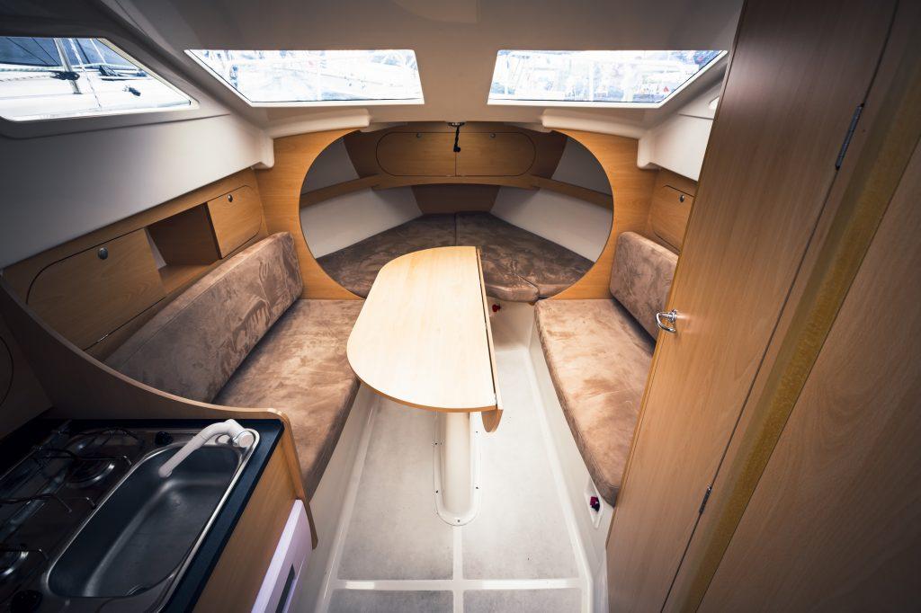 gas hob in a yacht
