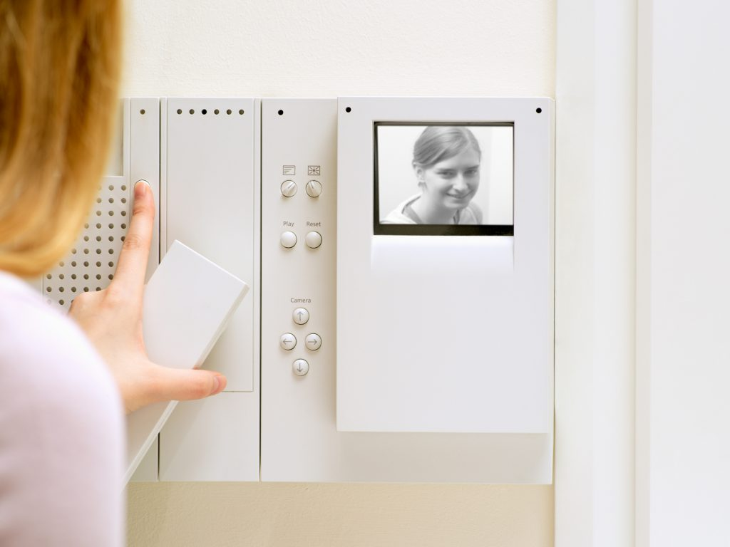a traditional intercom camera
