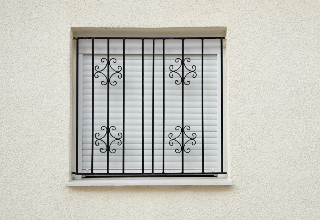 grilles to front of window