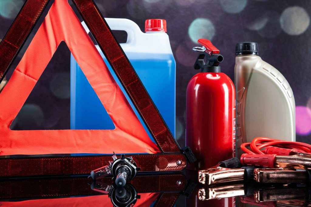 Essential elements in any car. Bulbs, fluids and battery