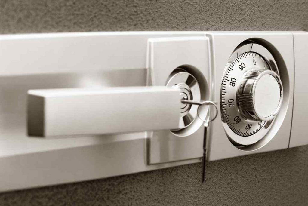traditional safe with combination lock